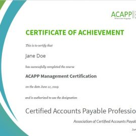 How do you become a certified accounts payable professional?