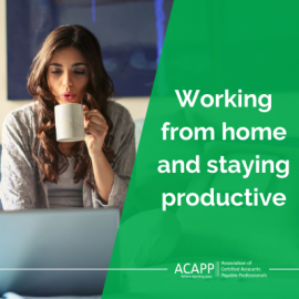 Working from home and staying productive