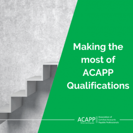 Making the most of Accounts Payable qualifications and certification